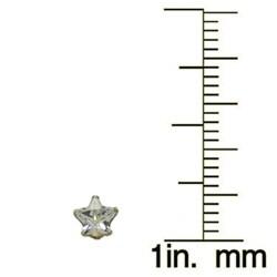 Gioelli 10kt Star Cubic Zirconia 4mm Stud Earrings