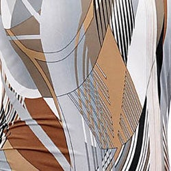 Stanzino Women's Grey/ Brown Printed Top