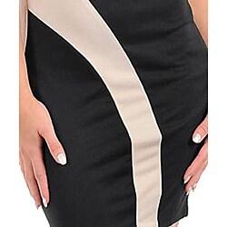 Stanzino Women's Black/ Taupe Strapless Dress - Thumbnail 2