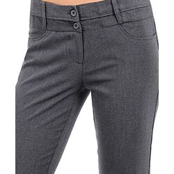 Stanzino Women's Flare-leg Grey Pants