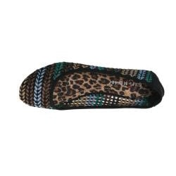 Elegant by Beston Women's 'Zinnia-3' Black Woven Flats