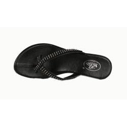 Bolaro by Beston Women's Black Wedge Thong Sandals
