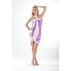 Three Lei's Sarong in Light Purple/ White (Indonesia)