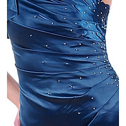 Stanzino Women's Teal Single-shoulder Dress - Thumbnail 2