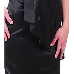 Stanzino Women's Black Strapless Pleated Dress