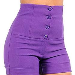 Stanzino Women's Purple High-Waisted Shorts - Free Shipping On ...