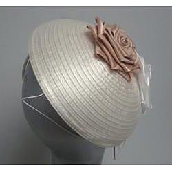 Swan Hat Satin Ribbon Ivory Fascinator Hat - Thumbnail 2