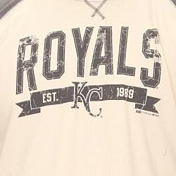Stitches Men's Kansas City Royals Raglan Thermal Shirt - Thumbnail 2