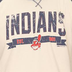 Stitches Men's Cleveland Indians Raglan Thermal Shirt - Thumbnail 2