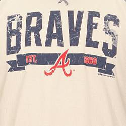 Stitches Men's Atlanta Braves Raglan Thermal Shirt - Thumbnail 2