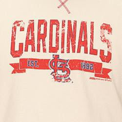 Stitches Men's St. Louis Cardinals Raglan Thermal Shirt - Thumbnail 2