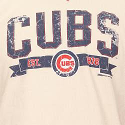 Stitches Men's Chicago Cubs Raglan Thermal Shirt - Thumbnail 2