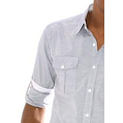 191 Unlimited Men's Grey Woven Shirt