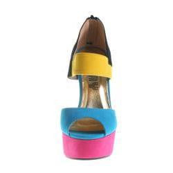 Refresh By Beston Women's CAPRI Multi-Colored Platform Heels - Thumbnail 2