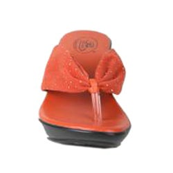 Bolaro by Beston Women's 'DW4022' Orange Wedge Thong Sandals