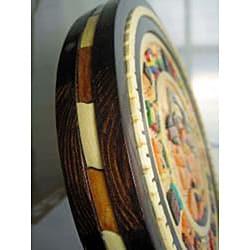 Wood Aztec Calendar (Mexico)