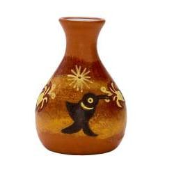 Decorative Ceramic 'L' Bottle Vase (Peru) - Thumbnail 2