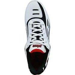 Prince Men's Renegade Tennis Shoe with Padded Antibacterial Lining - Black/Red/White - Thumbnail 2