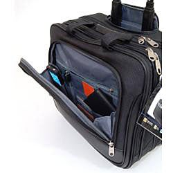 Samsonite Triple Gusset Wheeled 15.4-inch Computer Laptop Business Case Overnighter - Thumbnail 2