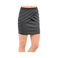 Stanzino Women's Charcoal Pleated Mini Skirt