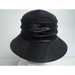 Swan Women's Black Organza Crushable Bucket Hat - Thumbnail 2