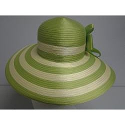 Swan Women's Lime Green/ Yellow Floppy Church Hat