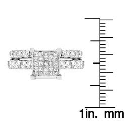 14k White Gold 2/3ct TDW White Diamond Bridal Ring Set (G, SI1-SI2)