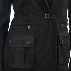 Stanzino Women's Black Collared Jacket - Thumbnail 2