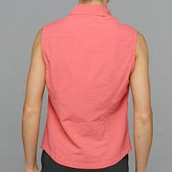 10,000 Feet Above Sea Level Women's Coral Outdoor Sleeveless Shirt - Thumbnail 2