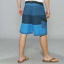 Zonal Men's 'Lineup' Blue Stripe Boardshorts - Thumbnail 2