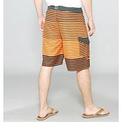 Zonal Men's 'Lineup' Orange Stripe Boardshorts
