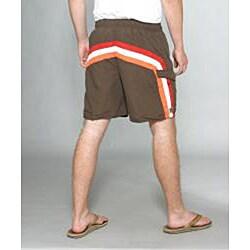 Zonal Men's 'Lanes E-Board' Brown Swim Shorts