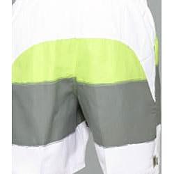 Zonal Men's 'Word E-Board' Green/ Grey Swim Shorts - Thumbnail 2