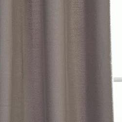 Exclusive Fabrics Cotenza Steel Grey Faux Cotton Grommet Curtain Panel