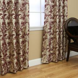 Metallic Vine Grommet 84-inch Curtain Panel Pair - Thumbnail 2