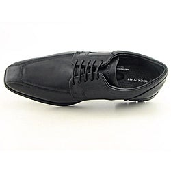 Rockport Men's Fairwood Moc Front Black Dress Shoes Wide - Thumbnail 2