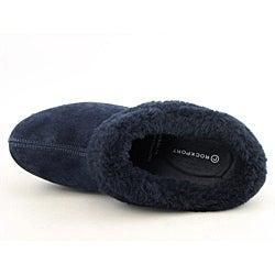 Rockport Women's Katja Shearling Mule Blue Dress Shoes - Thumbnail 2