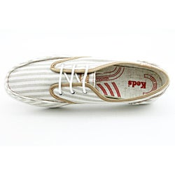 Keds Women's Skipper Canvas Stripe Beige Casual Shoes