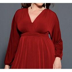 Velma Women's Long Sleeve Empire Waist Dress
