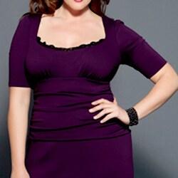 Kiyonna Women's Plus 'Dollface' Peek-a-boo Lace Dress