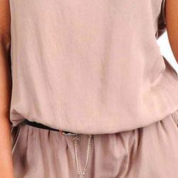 Stanzino Women's Strapless Belted Romper - Thumbnail 2