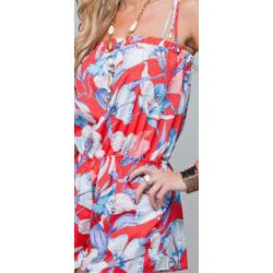 Stanzino Women's Tropical Floral Short Romper - Thumbnail 2