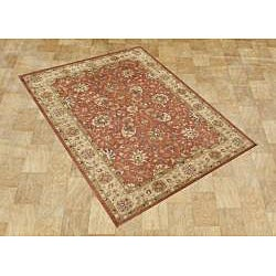 Hand-made Taj Mahal Rust New Zealand Wool Rug (5' x 8') - Thumbnail 2