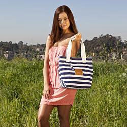 Nikky Mariel Striped Canvas Tote Bag - Thumbnail 2