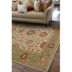 Hand Tufted Ivory Wool Rug (2' x 3') - Thumbnail 2