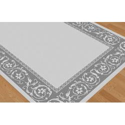 Garden Town Collection Gray Area Rug (7'10 x 10'3)