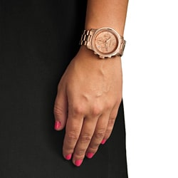 Republic Women's Rose-gold Chronograph Watch