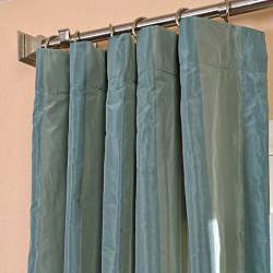 Exclusive Fabrics Signature Stripe Zuma Faux Silk Taffeta Curtain Panel - Thumbnail 2