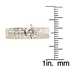 14k Yellow Gold 1 1/5ct TDW Diamond Bridal Ring Set (G-H, SI1-SI2) - Thumbnail 2
