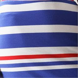 Tabeez Women's Striped High Waist Sheath Skirt - Thumbnail 2